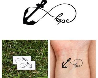 Infinity Anchor - Hope - Temporary Tattoo (Set of 2)
