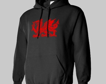 WELSH DRAGON the FLAG Wales Hoodie Great Brittion