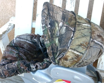 Realtree car seat cover and hood cover
