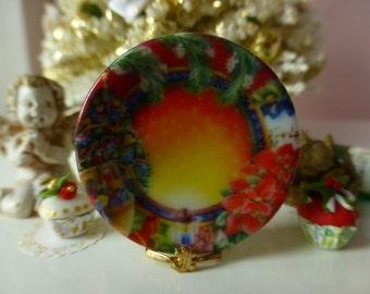 Christmas Collection  Nº 2 Dollhouse Miniature Plate