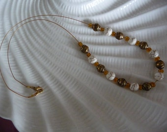 Ivory and gold tone Necklace