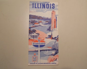 Standard Oil Illinois Map 1965