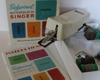 Vintage 1970's Singer Professional Buttonholer/Sewing Supply