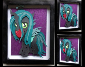 "8"" x 10"" Filly Queen Chrysalis Shadowbox"