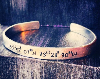 "Personalized Bracelet, Personalized cuff, Personalized cuff bracelet, mother gift, sister gift, engraved bracelet 1/4"""