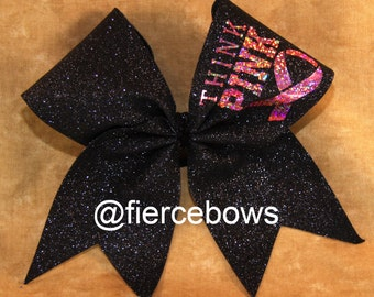 Breast Cancer Awareness Cheer Bow
