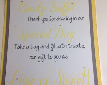 Custom Candy Buffet Sign