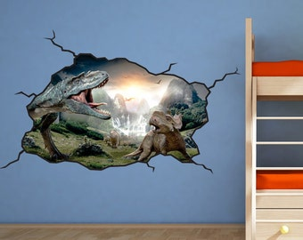 Dinosaur Wall Decal - T-Rex Kids Bedroom