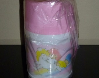 Vintage Sanrio 1990 Little Twin Stars Mini Plastic Thermos