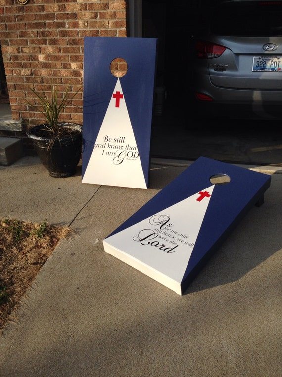 New Christian Theme Cornhole Boards With Bags Bean Bag Toss