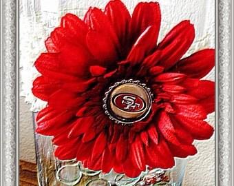 49er Flower with Crochet Headband