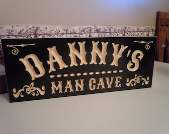 Pine Wood Log Sign - Man Cave Personalized Man Cave Sign