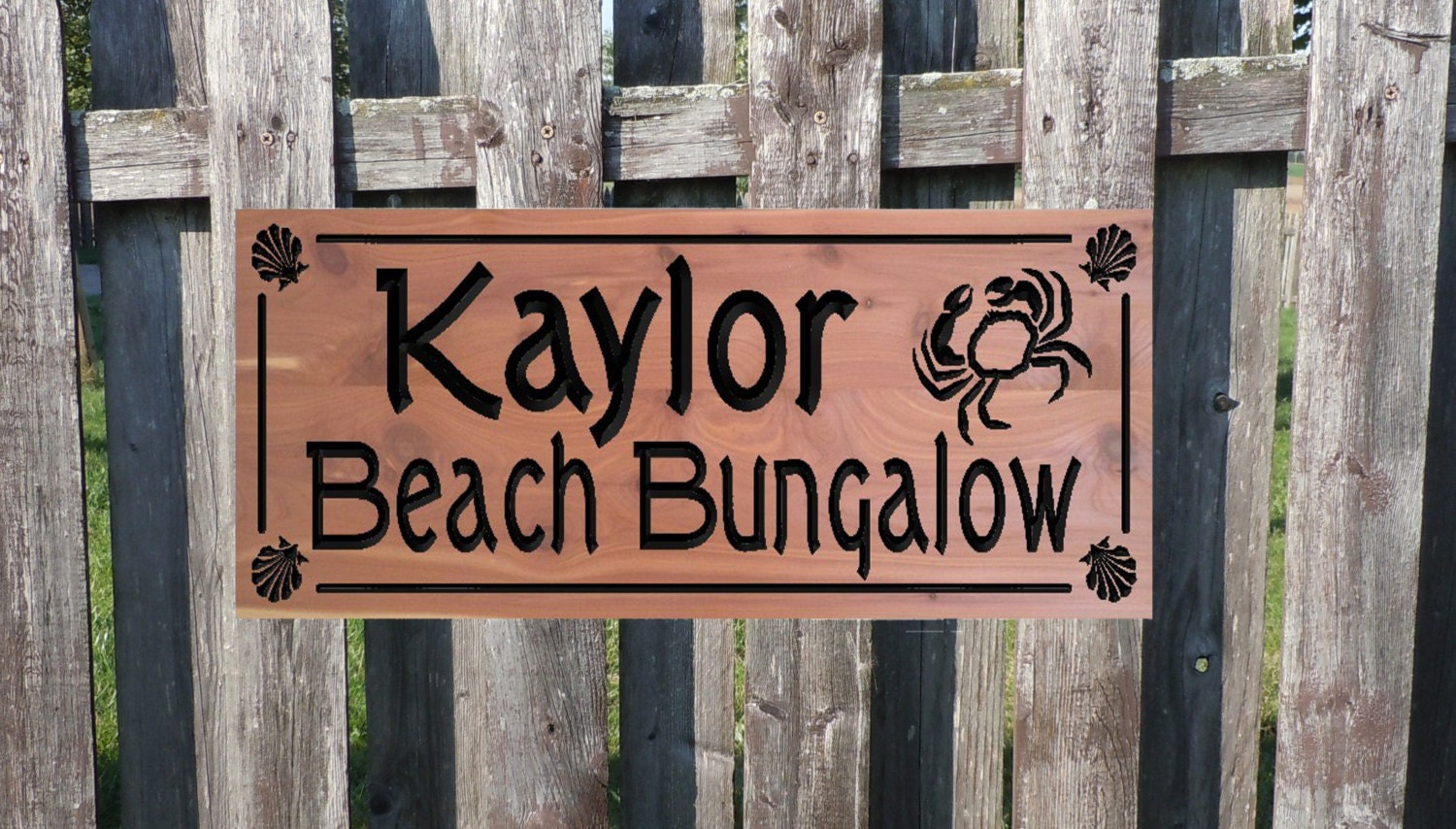 Beach House Outdoor Sign Personalized Wooden By Tkwoodcrafts