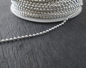 Silver Color Ball Bead Chain, 10FT Ball Chain, 2mm Ball Bead Chain