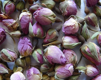Dried Pink Rose Buds Boutons 250gr (Boutons De Rose) - Ideal For Your Crafts, For Your Tea