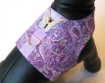 Xxsmall Dog Harness Vest Purple Tiny Dog Harness