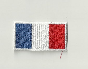 Tiny French Flag Patch! Custom Made! F13
