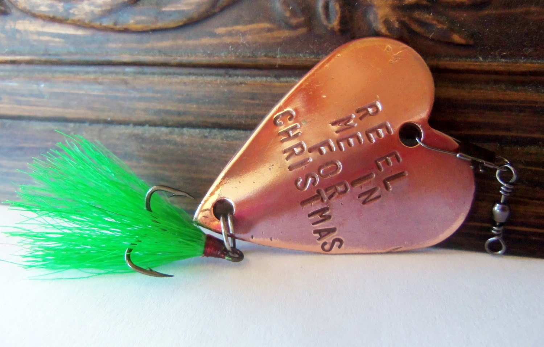 Christmas custom fishing lure unique holiday gift personalized for Personalized fishing lure