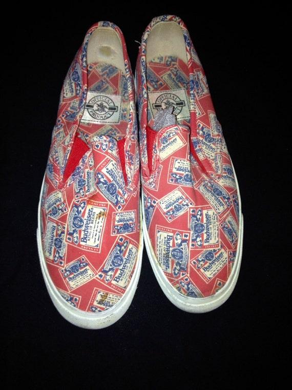 true vintage 80s rare budweiser king of beers authentic canvas