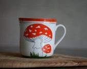 Vintage Estonian Handpainted Mushroom Cup