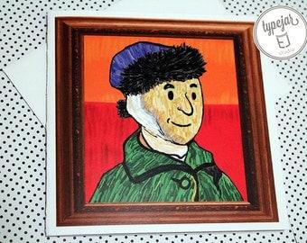 Van Gogh Valentine Card (5.5 x 5.5 inch)