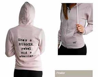 XS - She's a RUNNER, rebel and a stunner... Hoody in Mauve - Several Colors Available (Extra Small)
