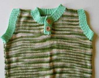 Boys knitted tank top