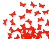 Butterfly confetti - pastel - yellow - orange - red - mix - 250 handpunched pieces - constarlation