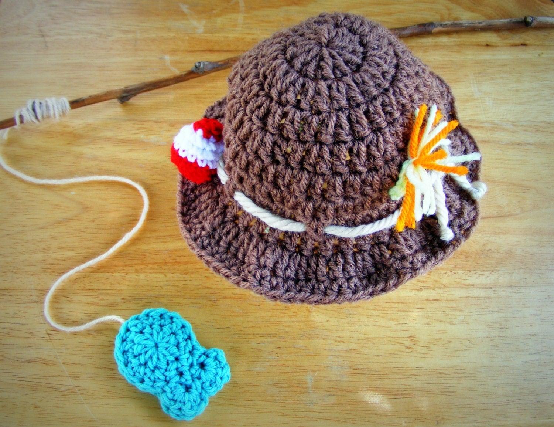 Fisherman hat fishing hat fishing baby prop newborn fishing for Baby fishing hat