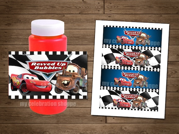 INSTANT DOWNLOAD Disney Cars PRINTABLE Bubble Wrappers - Digital Printable File - My Celebration Shoppe - Cars Decorations - Cars Diy Prints