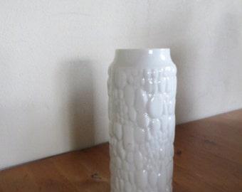 Beautiful design Op Art vase by Kaiser Porzellan, Germany 1960s.