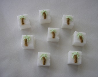 28 Pcs Decorated Sugar Cubes Palm Tree Collection     Simply Darling