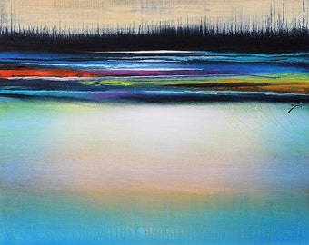 "Original Abstract Art Painting  •  30"" x  24"" Contemporary Art  • DISTANT COLOR #1""  • Original Contemporary Painting"