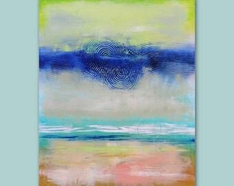 "Original Abstract Art Painting  •  24"" x 30"" Contemporary Art  ""Sea Foam"" Original Painting •  Art2D Studio"
