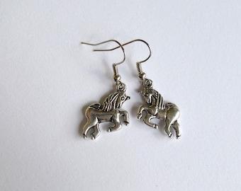 unicorn earrings - horse earrings - horse earring - earrings with a horse - nice horse earrings