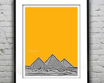 Cairo Egypt Poster Art Print Skyline Pyramids of Giza Africa