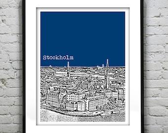 Stockholm Sweden Skyline Poster Art Print