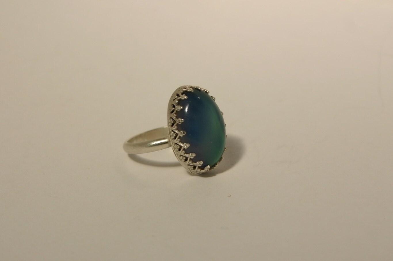 handmade sterling silver mood ring