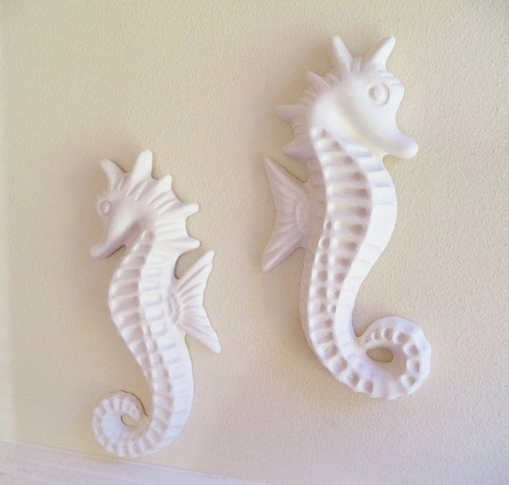 large seahorse wall decor beachy decor from grace and. Black Bedroom Furniture Sets. Home Design Ideas