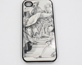 Iphone 6 case Iphone 5 iphone 4 Samsung ISkeleton Devil Demon  vintage art case mobile cell Phone case cover cell phone snap case black blue