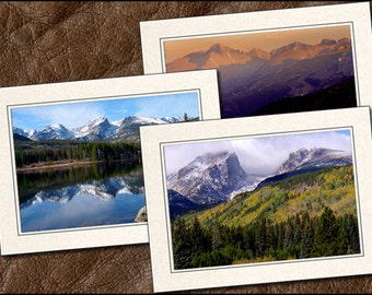 3 Nature Photo Note Cards Handmade Set - 5x7 Nature Note Cards - Note Cards With Envelopes - Photo Greeting Cards Handmade (NA15)