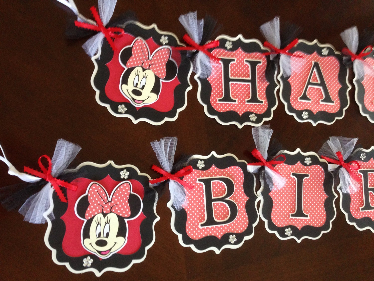 Minnie Mouse Party Decorations RedBlackWhite Minnie Mouse