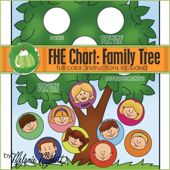 family home evening chart family tree downloadable file