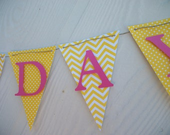 Happy Birthday Banner, Happy 1st Birthday Banner, Girls Birthday Banner, Birthday Decorations