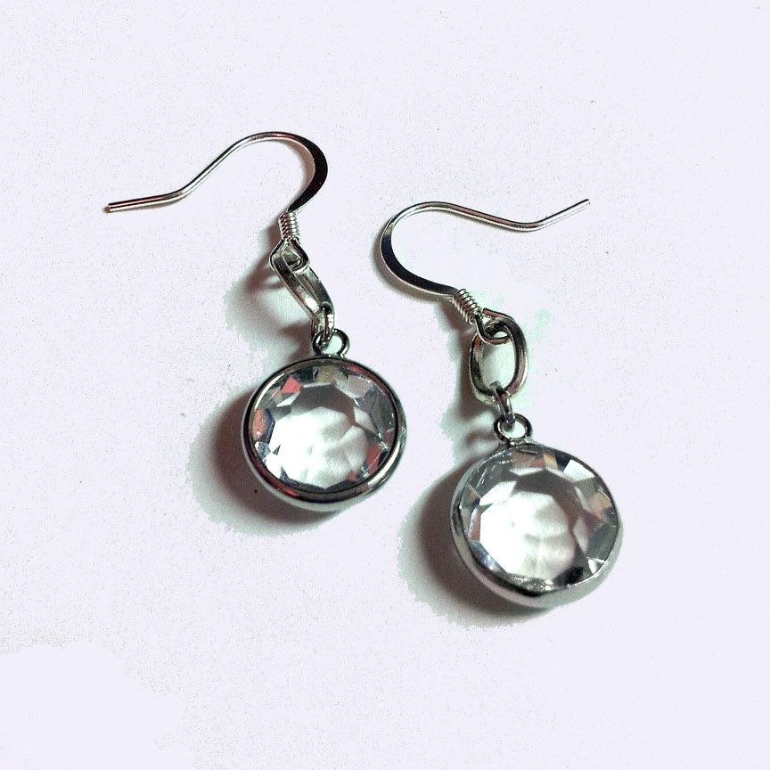Radiance Simple Crystal Drop Earrings