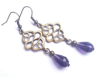 Desire - romantic purple earrings