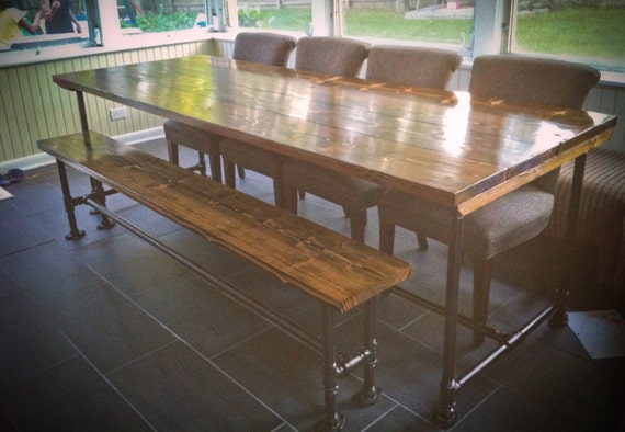 8ft Industrial Style Farmhouse Table Farmhouse by EmmorWorks