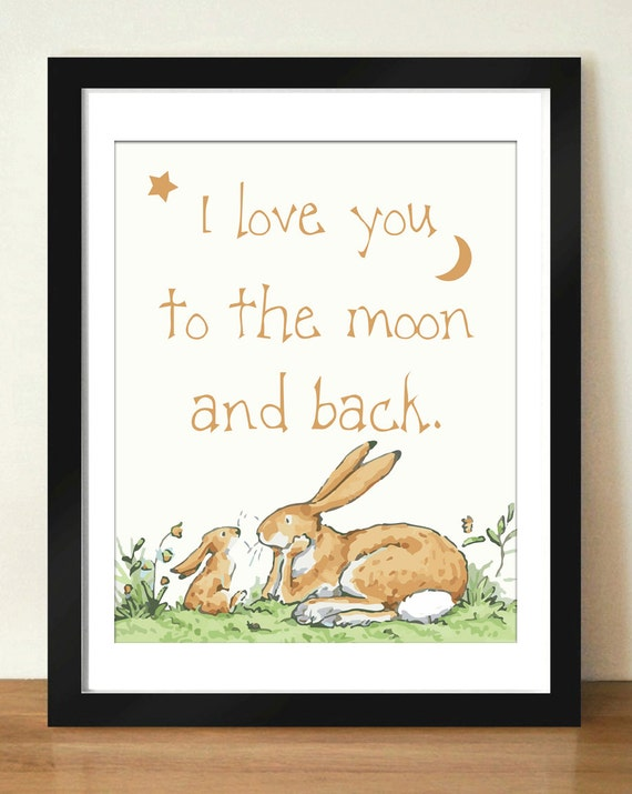 Digital Download I Love You To The Moon And Back Quote Art