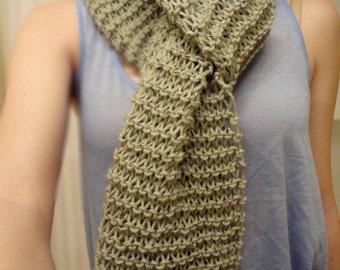 Flecked Mint Green Knit Scarf
