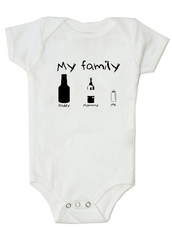 lustige baby body witzig my family bier flasche wein flasche. Black Bedroom Furniture Sets. Home Design Ideas